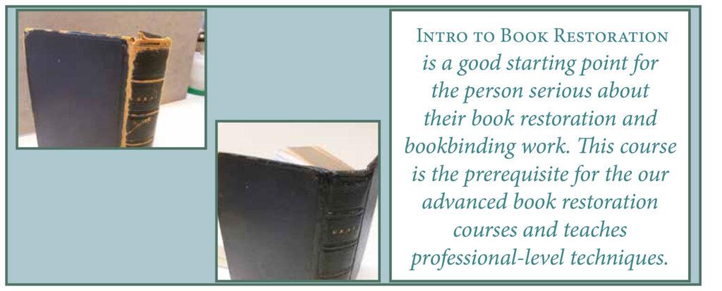 BOOKBINDING--INTRO-RESTORATION-BLURB