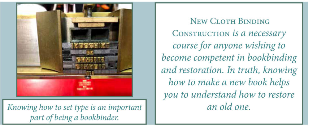 BOOKBINDING--NEW-CLOTH-BINDING-CONSTRUCTION-BLURB
